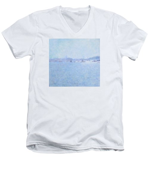 Waterway Of Beautiful France Men's V-Neck T-Shirt