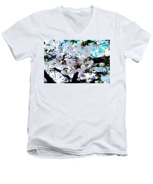 Men's V-Neck T-Shirt featuring the photograph Blanche by Vanessa Palomino