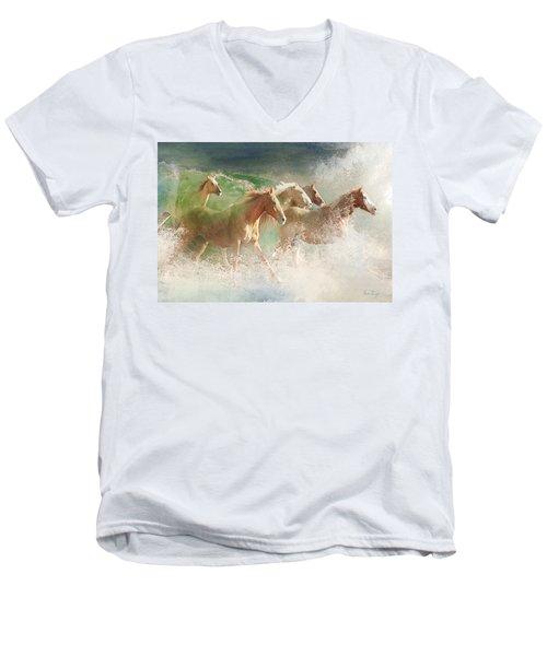 Waves Of God's Glory Men's V-Neck T-Shirt