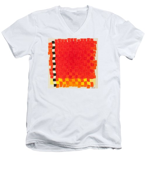 Weave #2 Sunset Weave Men's V-Neck T-Shirt