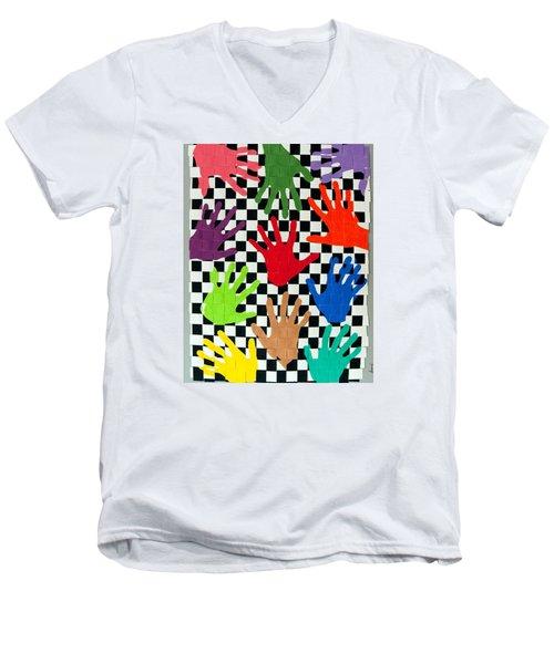 Weave #5 Hands On Men's V-Neck T-Shirt