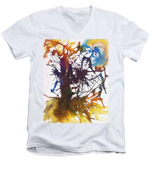 Web Of Life Men's V-Neck T-Shirt