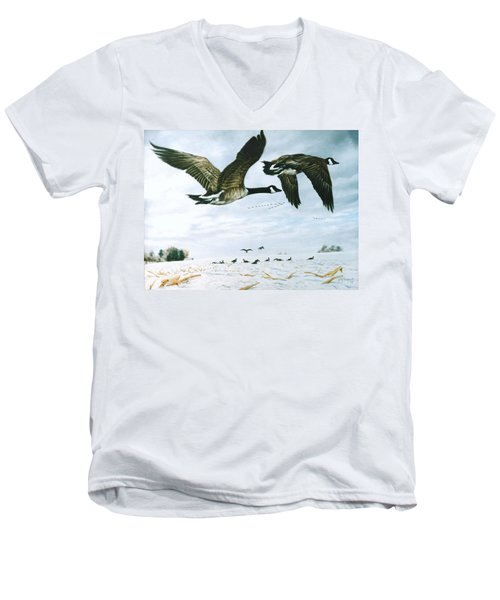 Welcome Home Men's V-Neck T-Shirt by Craig T Burgwardt
