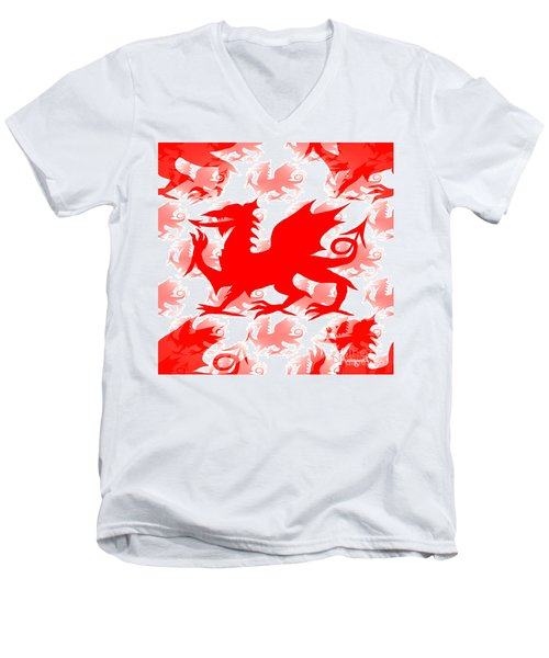 Welsh Dragon Men's V-Neck T-Shirt