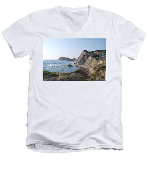 West Erikousa 1 Men's V-Neck T-Shirt