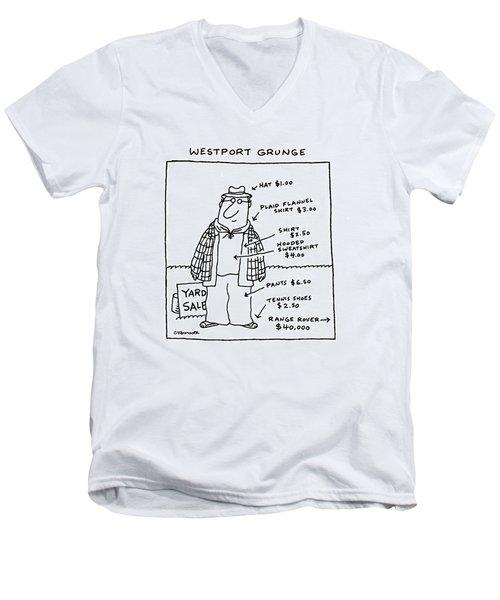 Westport Grunge Men's V-Neck T-Shirt