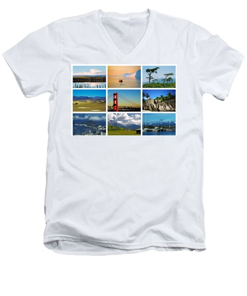 My Wonderful World ... Men's V-Neck T-Shirt