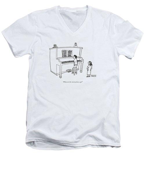 What Do The Instructions Say? Men's V-Neck T-Shirt