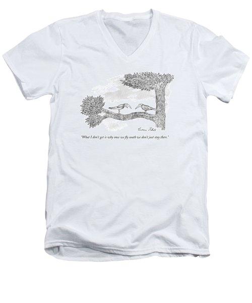 Once We Fly South Men's V-Neck T-Shirt