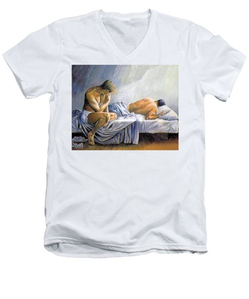What Is He Dreaming Men's V-Neck T-Shirt