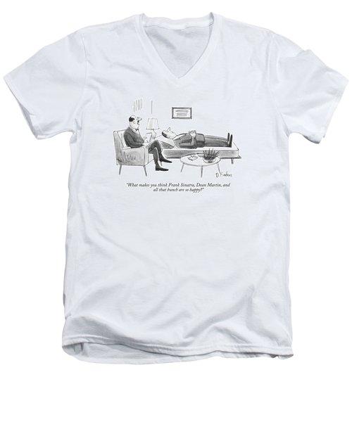 What Makes You Think Frank Sinatra Men's V-Neck T-Shirt