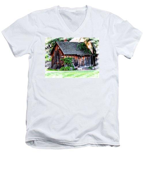 Wheel Shop Men's V-Neck T-Shirt by Marcia Lee Jones