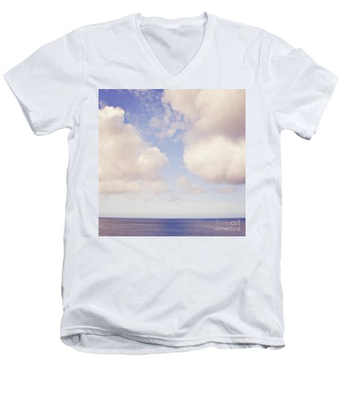 When Clouds Meet The Sea Men's V-Neck T-Shirt