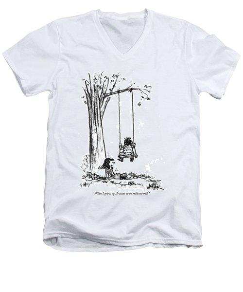 When I Grow Men's V-Neck T-Shirt