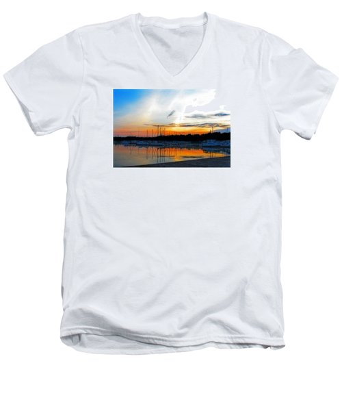 When The Sun Goes Down Men's V-Neck T-Shirt by Susan  McMenamin