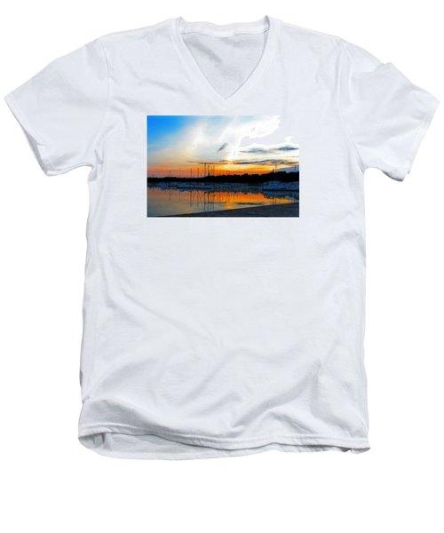 When The Sun Goes Down Men's V-Neck T-Shirt by Susan  McMenamin