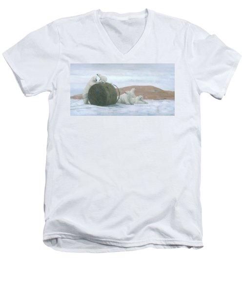 When Worlds Collide Men's V-Neck T-Shirt
