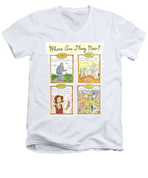 Where Are They Now? Men's V-Neck T-Shirt