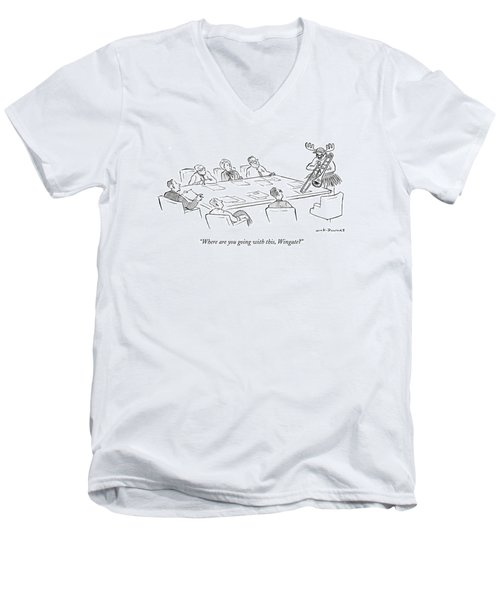 Where Are You Going With This Men's V-Neck T-Shirt