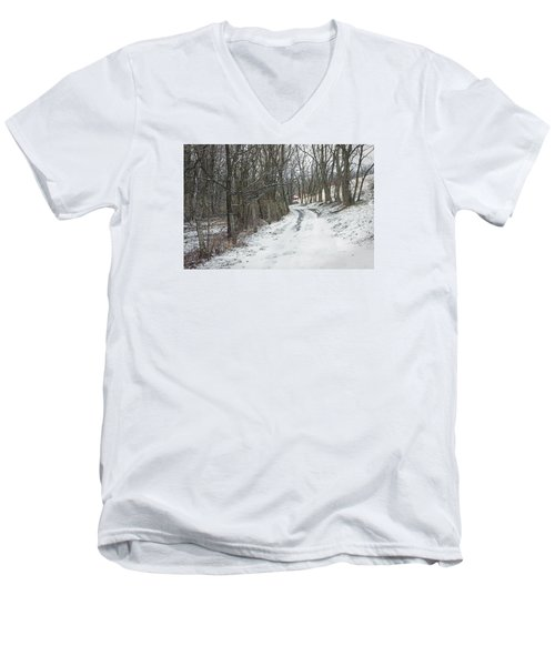 Where The Road May Take You Men's V-Neck T-Shirt by Photographic Arts And Design Studio