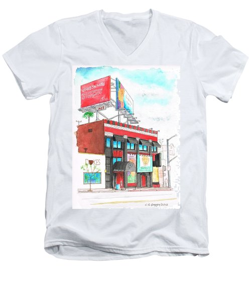 Whisky-a-go-go In West Hollywood - California Men's V-Neck T-Shirt by Carlos G Groppa