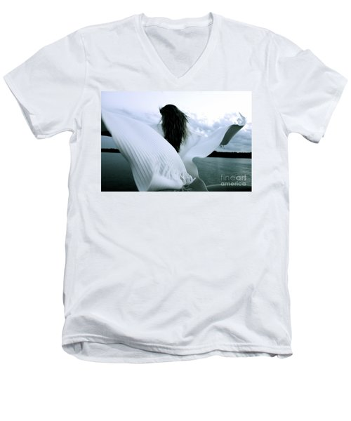 White Angel Men's V-Neck T-Shirt
