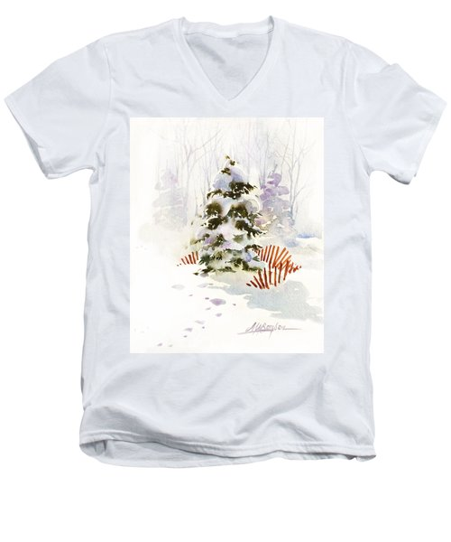 White Christmas Men's V-Neck T-Shirt