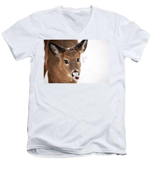 White On The Nose Men's V-Neck T-Shirt