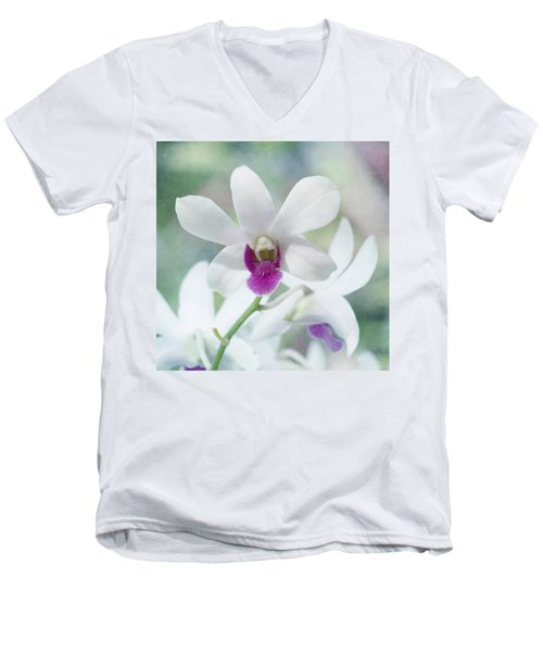 White Orchid Men's V-Neck T-Shirt