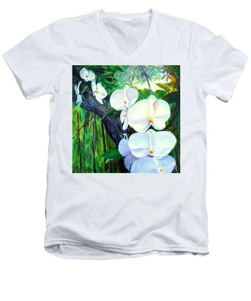 White Orchid's Men's V-Neck T-Shirt