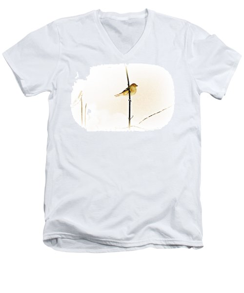 White Out Conditions Men's V-Neck T-Shirt by Barbara S Nickerson