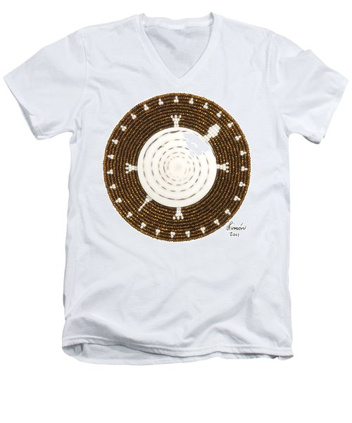 White Shell Men's V-Neck T-Shirt