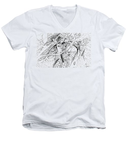 White-tail Encounter Men's V-Neck T-Shirt