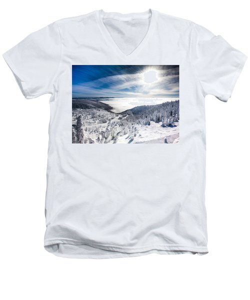 Whitefish Inversion Men's V-Neck T-Shirt