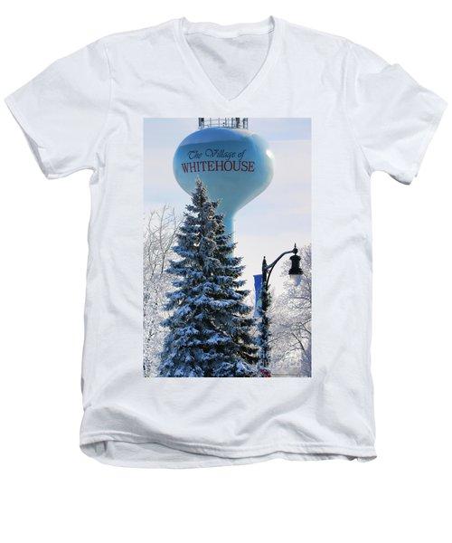 Whitehouse Water Tower  7361 Men's V-Neck T-Shirt by Jack Schultz