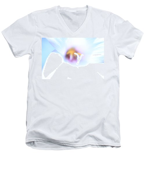 Men's V-Neck T-Shirt featuring the photograph Whiteout by Greg Allore
