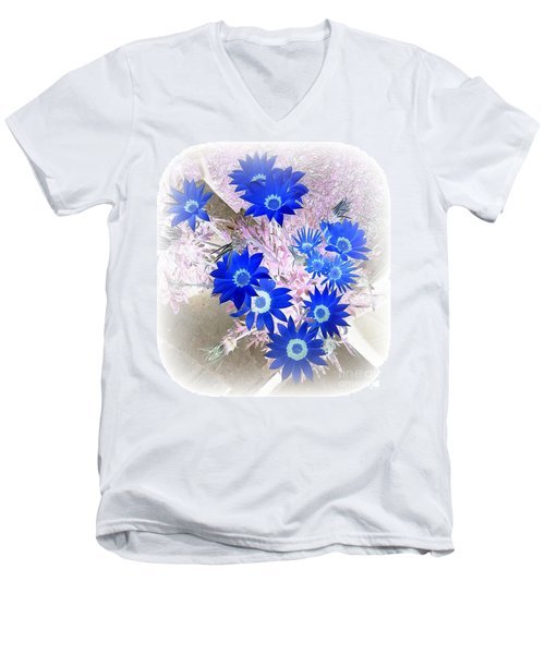 Men's V-Neck T-Shirt featuring the photograph Wild Blue by Kenneth Clarke