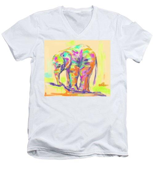 Wildlife Baby Elephant Men's V-Neck T-Shirt