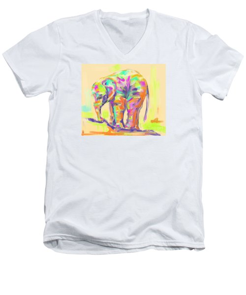 Wildlife Baby Elephant Men's V-Neck T-Shirt