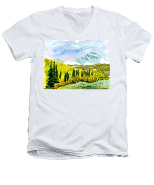 Willard Peak Men's V-Neck T-Shirt