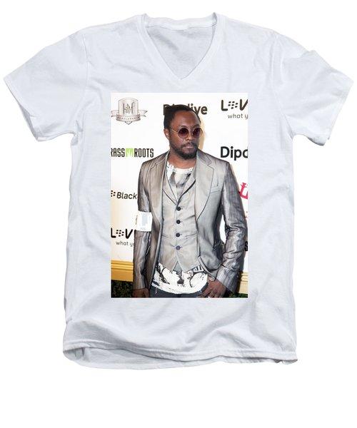 Will.i.am Men's V-Neck T-Shirt by Hugh Smith