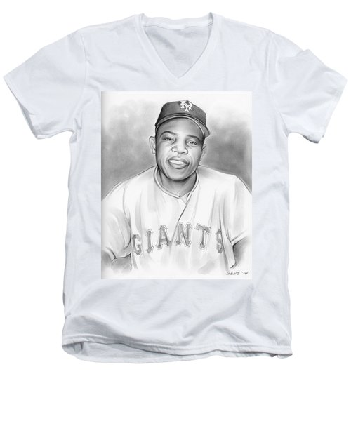 Willie Mays Men's V-Neck T-Shirt