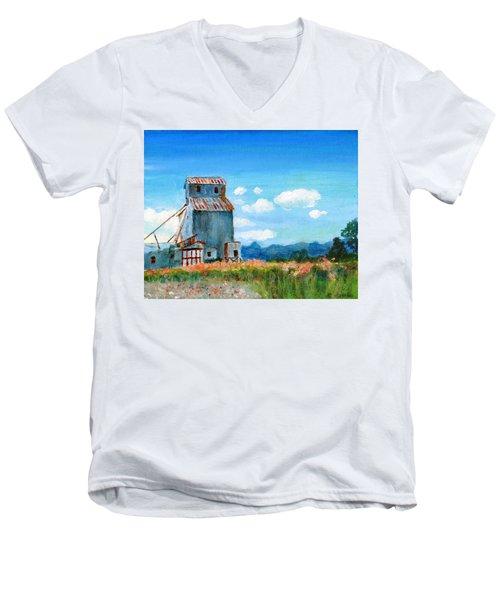 Willow Creek Grain Elevator II Men's V-Neck T-Shirt