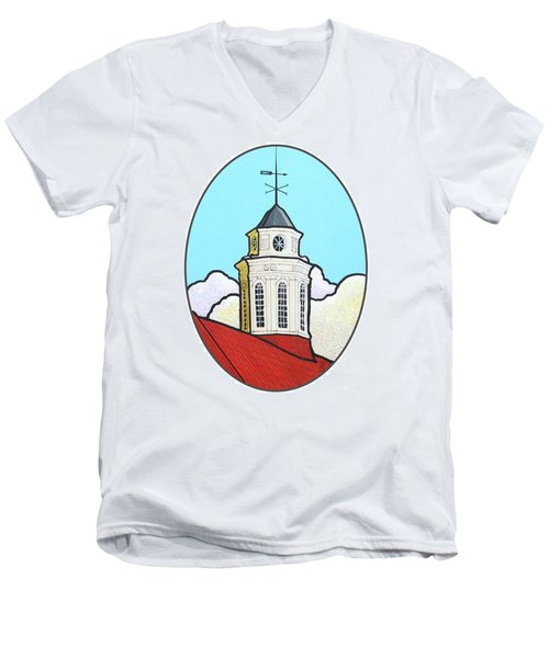 Wilson Hall Cupola - Jmu Men's V-Neck T-Shirt
