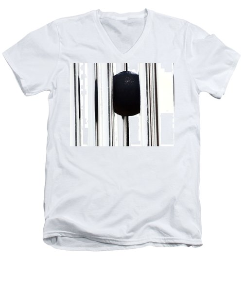Wind Chime In Black And White Men's V-Neck T-Shirt