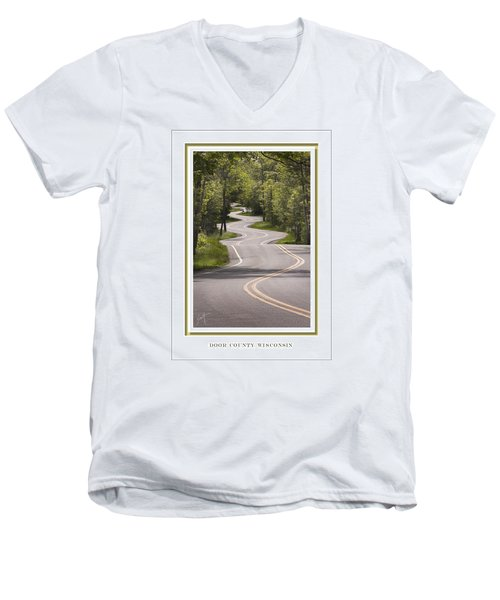 Winding Road Door County Men's V-Neck T-Shirt