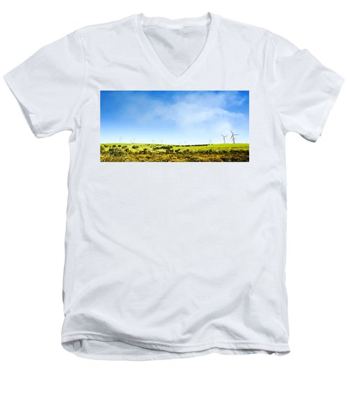 Men's V-Neck T-Shirt featuring the photograph Windmill by Yew Kwang