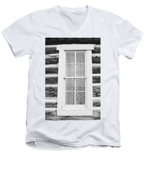 Men's V-Neck T-Shirt featuring the photograph Window To The Old West by Diane Alexander