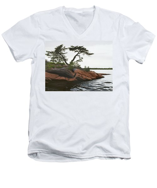 Windswept Men's V-Neck T-Shirt by Kenneth M  Kirsch