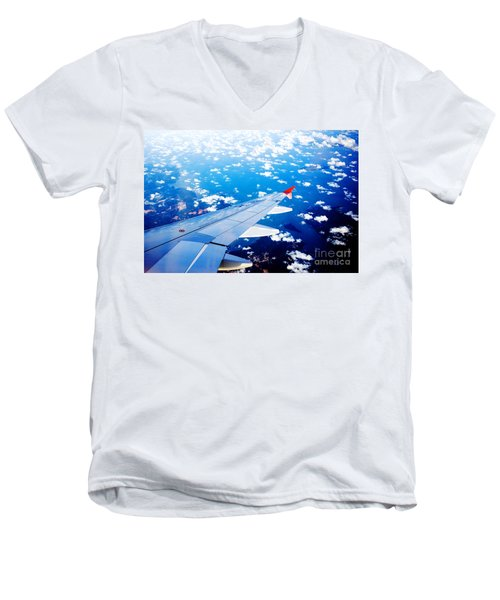 Wings And Clouds Men's V-Neck T-Shirt
